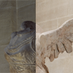 The Winged Victory before/after 2014